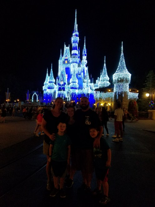 Hard to see but us in front of the castle