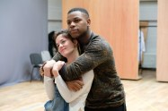 Sarah Greene (Marie) and John Boyega (Woyzeck). Woyzeck at The Old Vic, photo by Manuel Harlan (1)