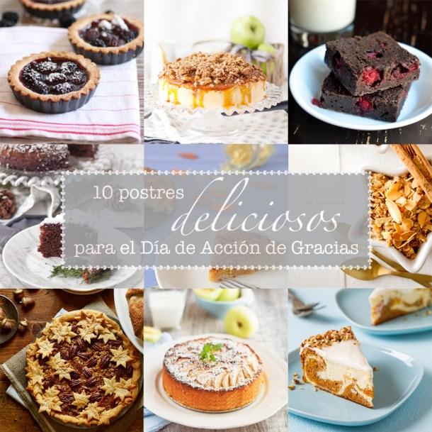 10 Postres Deliciosos Para el Dia de Accion de Gracias