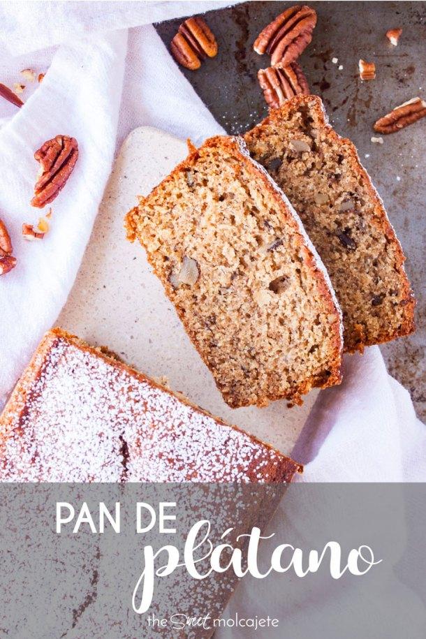 pan dulce con texto que dice pan de platano