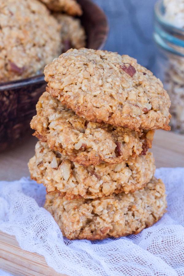 Regalos comestibles para Navidad - Receta de galletas de avena con nuez y miel