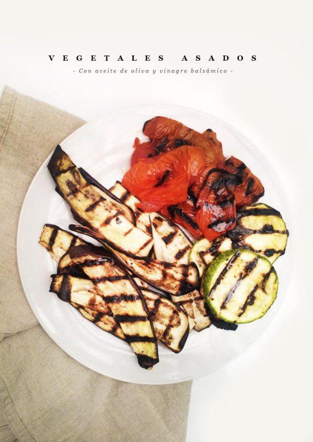 Vegetales asados en un plato blanco sobre una tela cafe de lino para celebrar el Dia del Padre