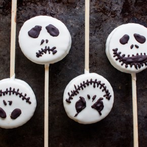 PALETAS DE ALFAJOR PARA HALLOWEEN