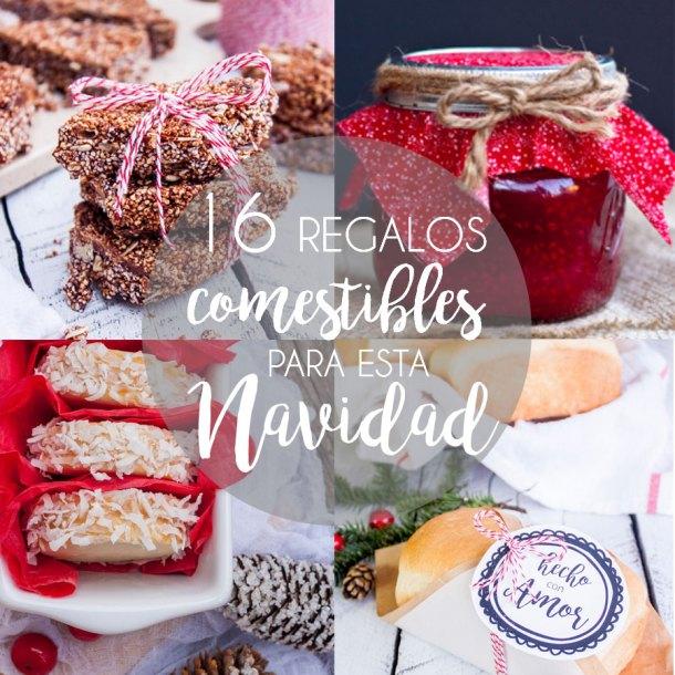16 Regalos comestibles para esta Navidad + etiquetas de regalo gratis