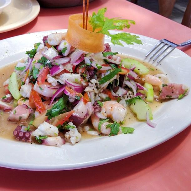Ceviche en Eladio's, Puerto Progreso, Yucatán