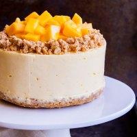 Receta para hacer un cheesecake de mango sin horno