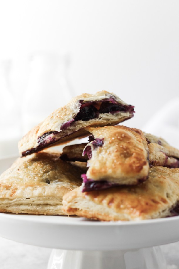 Stack of blueberry hand pies