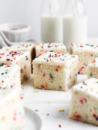 Funfetti snack cake squares