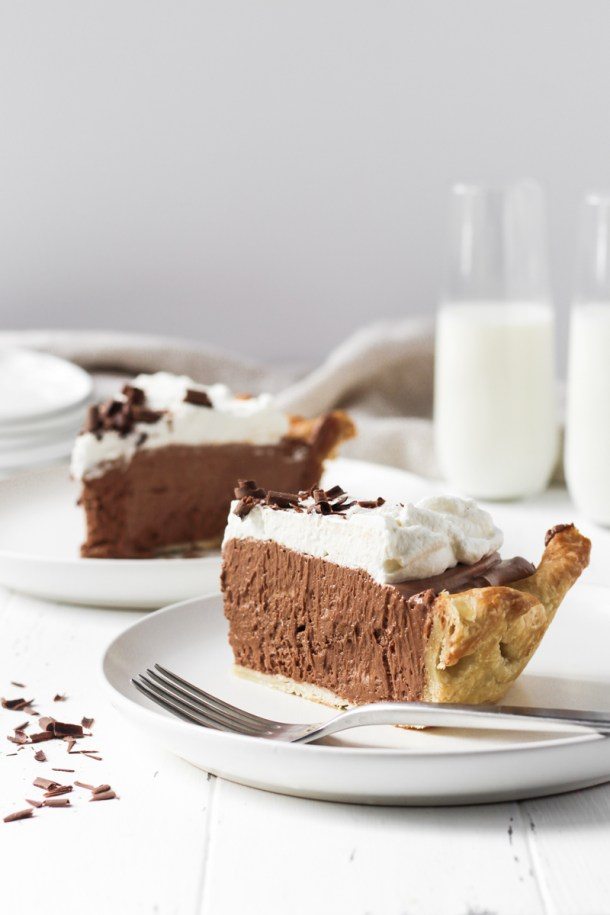 Two slices of French Silk Pie