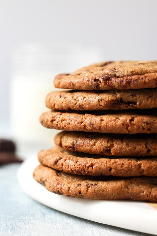 Stack of cookie butter cookies.