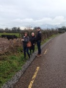 Kate, Gill and Chuck on our Sunday walk to Ballymaloe House