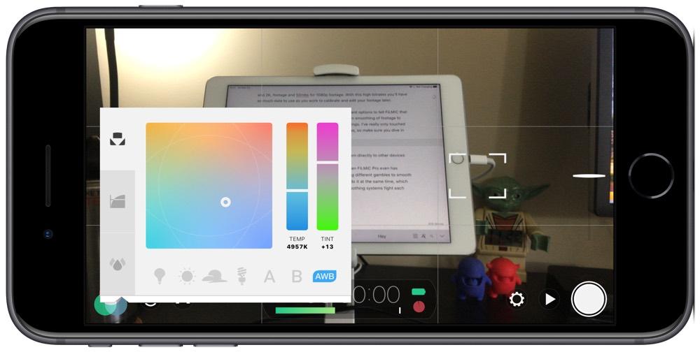 FiLMiC color settings
