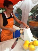 Peeling the orange
