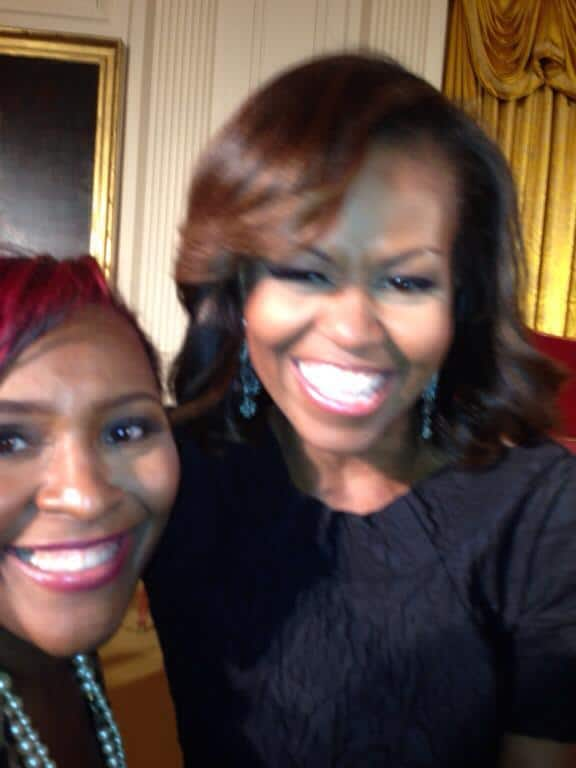 Kaye Flewellen and First Lady Michelle Obama