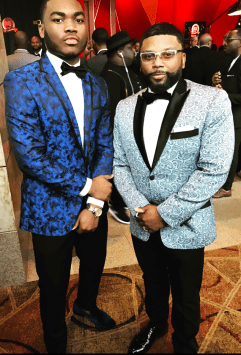 Senior Sanchez Lorick (left) and Mr. Carl Anthony Payne ll (right), known for his role on Martin as Cole, stop and pose for a photo after the awards. Photo courtesy Sanchez Lorick, Special to the Sword and Shield.