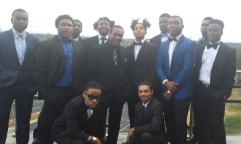 Mr. J.B. Brown and all the male students are well dressed for the event. Photo courtesy Salena Webb, Staff Photographer.