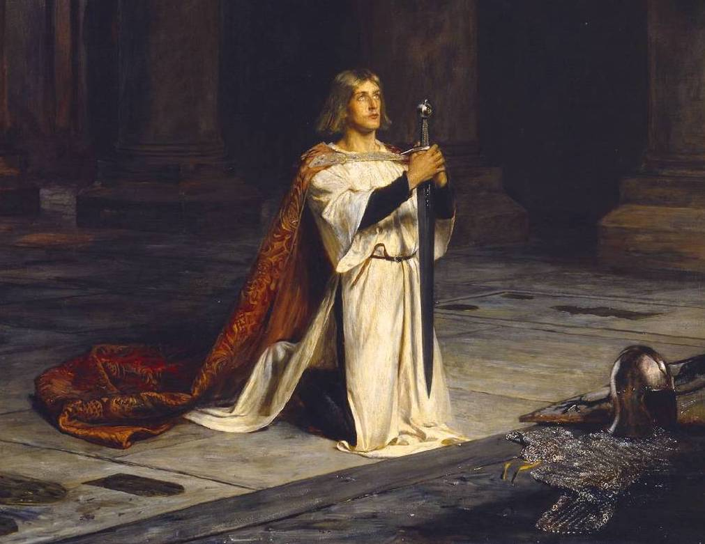 Image result for knight kneeling to their lord