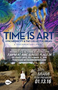 miami, time is art, theater premiere