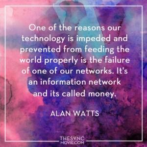 alan watts, money, time is art
