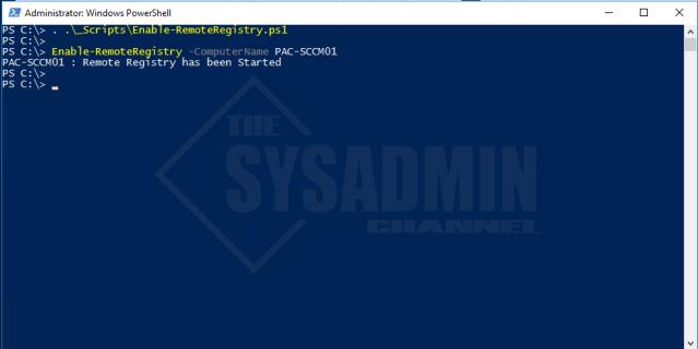 Enable-RemoteRegistry -ComputerName PAC-SCCM01