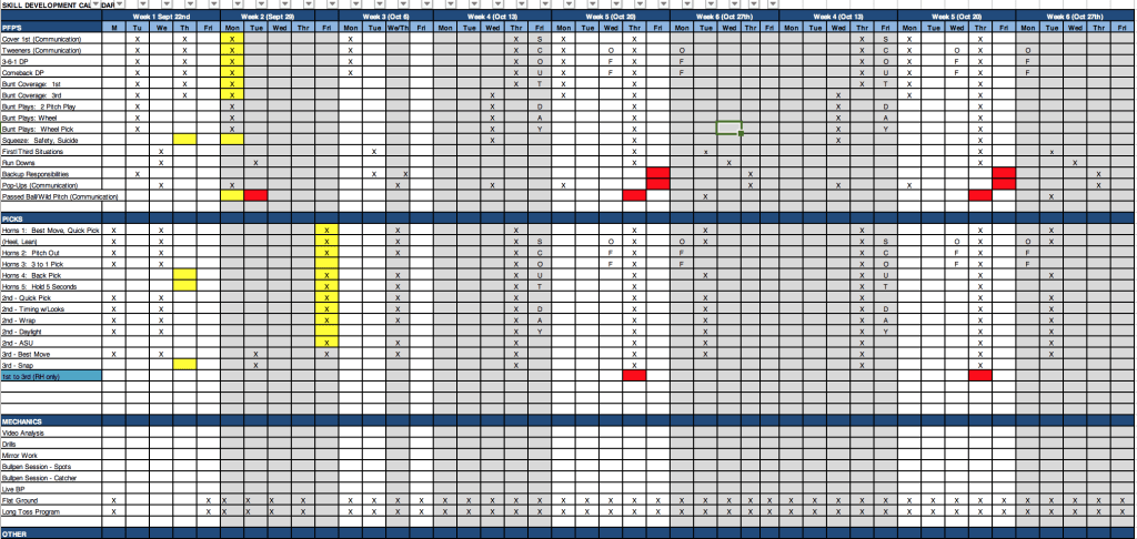 Practice Skills Calendar