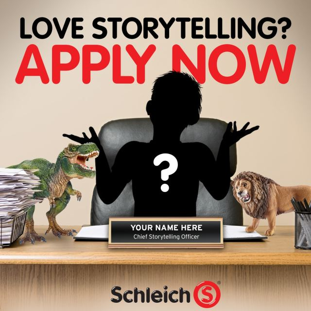 Global Toy Leader Schleich Launches US Search For A Child Chief Storytelling Officer, on The Table Read