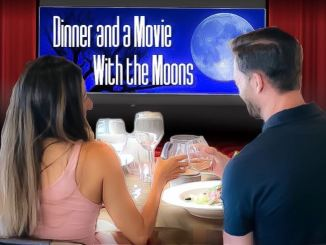 the moons sit in front of their tv