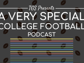 a very special cfb podcast with colored stripes below