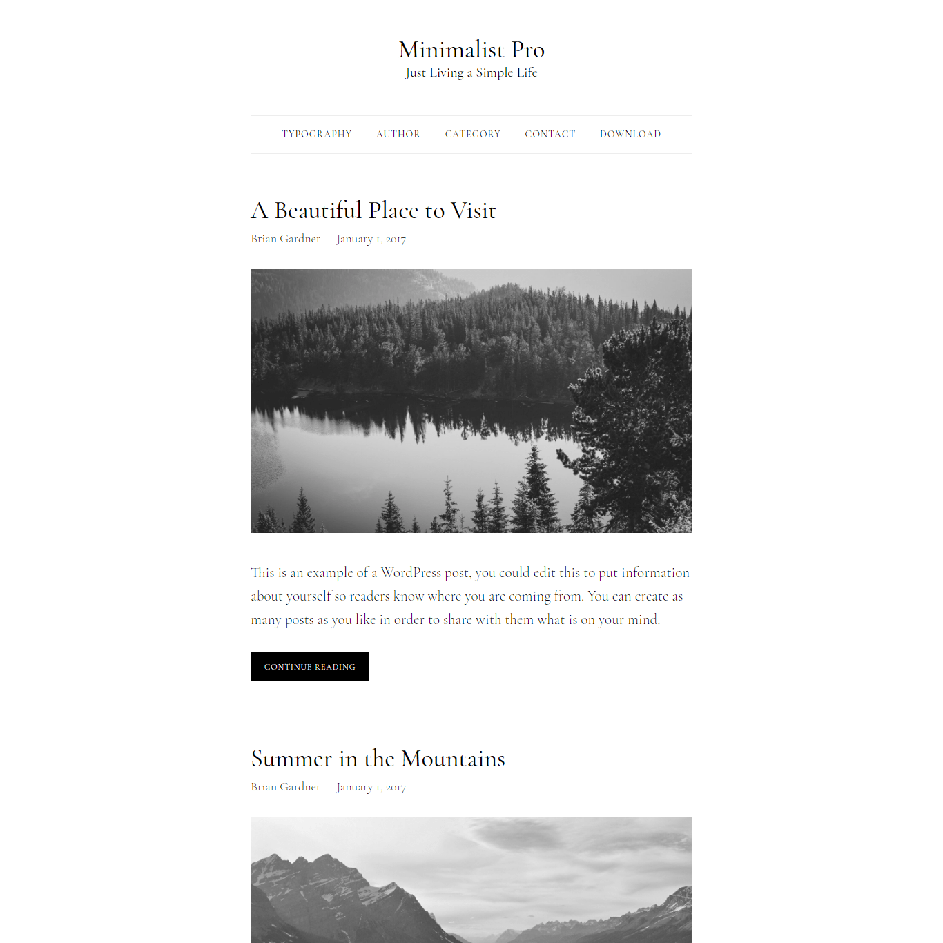Get a free website with Minimalist Pro by Brian Gardner on Talenthost