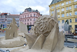 Sand Sculptures in one of Brno's squares