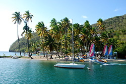 Beautiful Marigot Bay, which was once said to have hidden the entire British fleet from the French