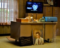 The office of his father/manager