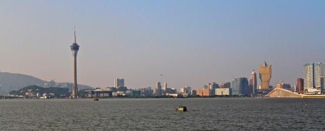 View of Macau Tower from Taipa