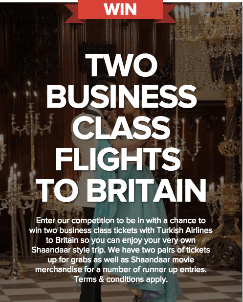 Win Business Class Tickets to Great Britain