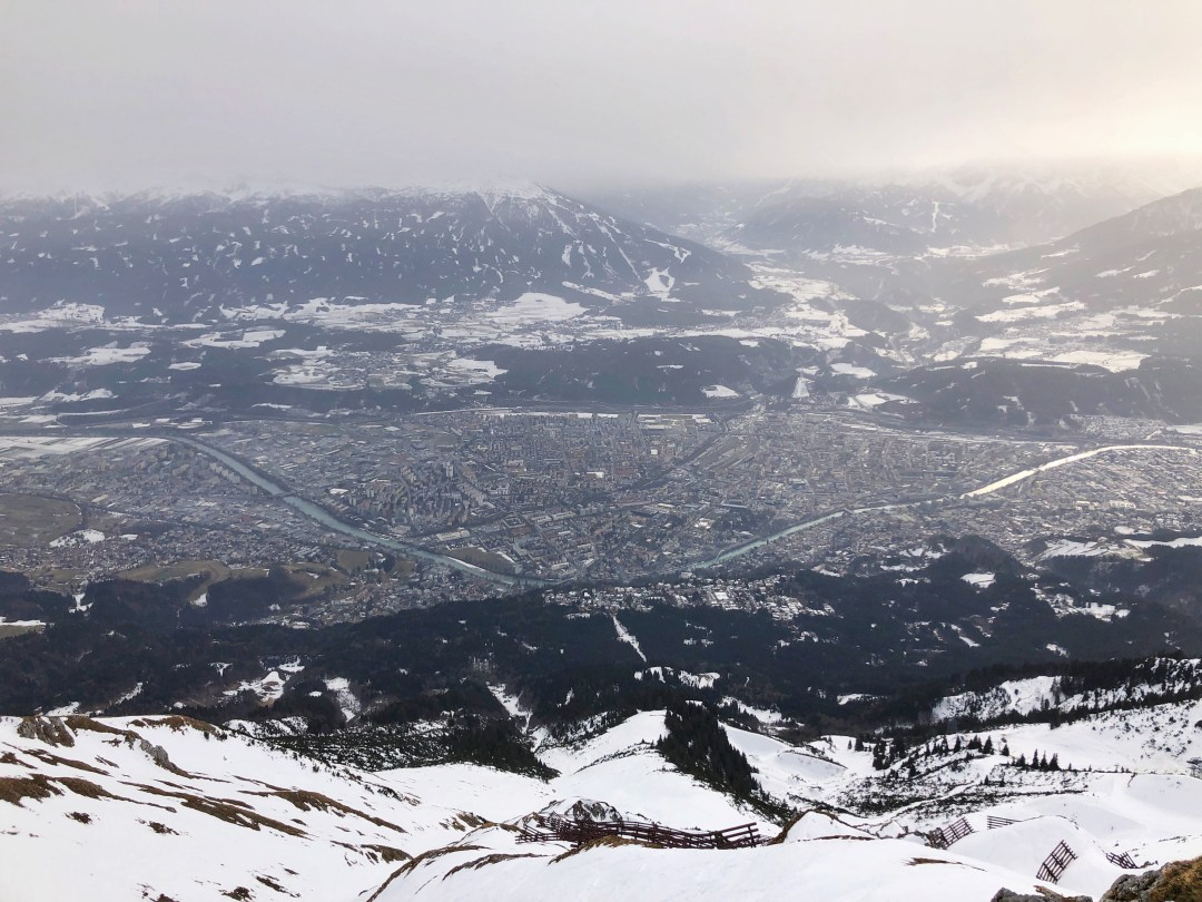 View from Nordkette Mountain in Winter