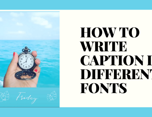 How to write caption in different fonts