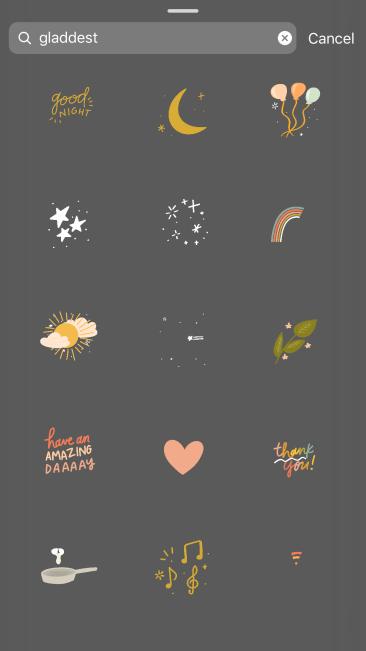 Gladdest - Best Instagram Stickers/ GIF