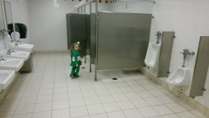 Let's parade past all the urinals...