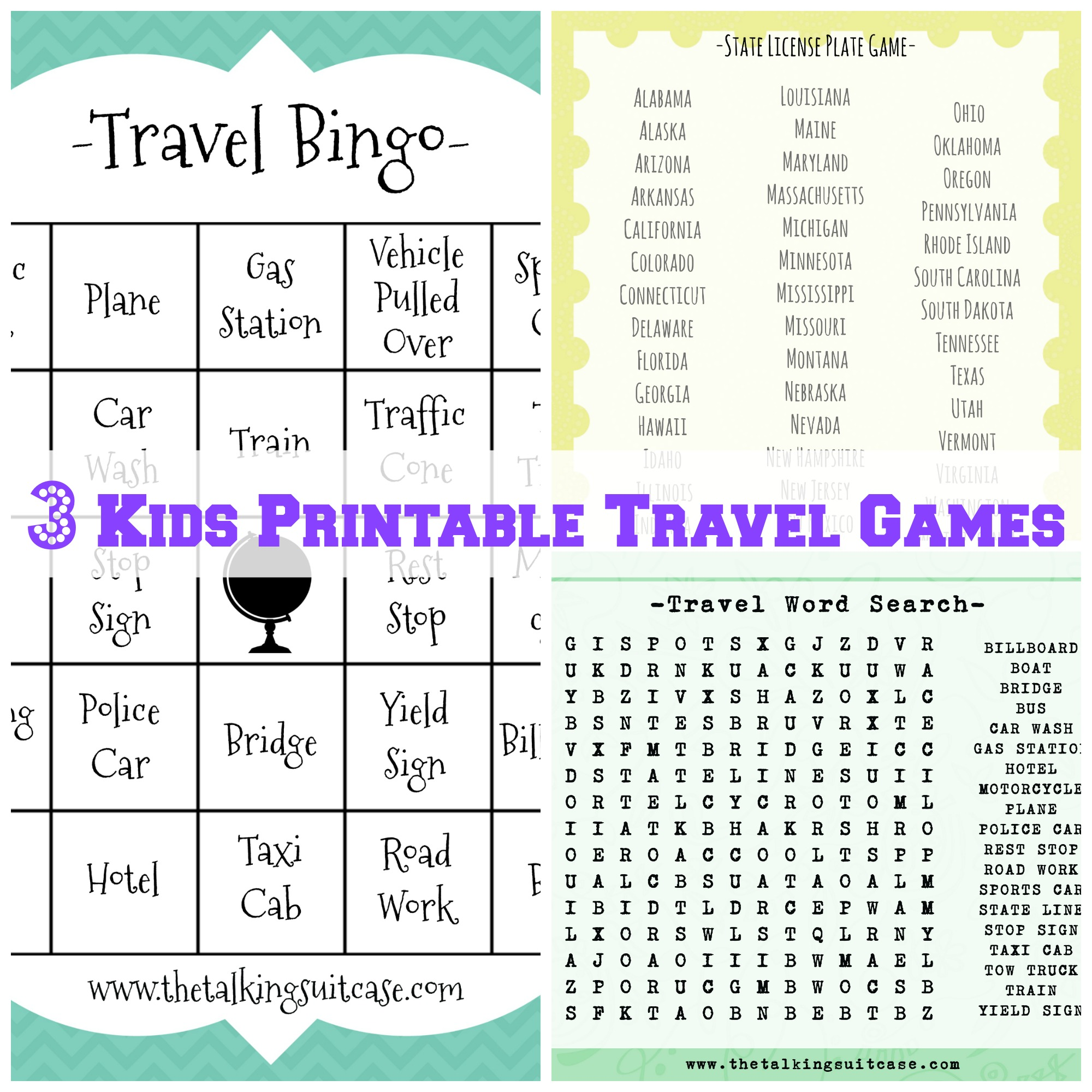 Kids Printable Travel Games I Printable Childrens Travel Games