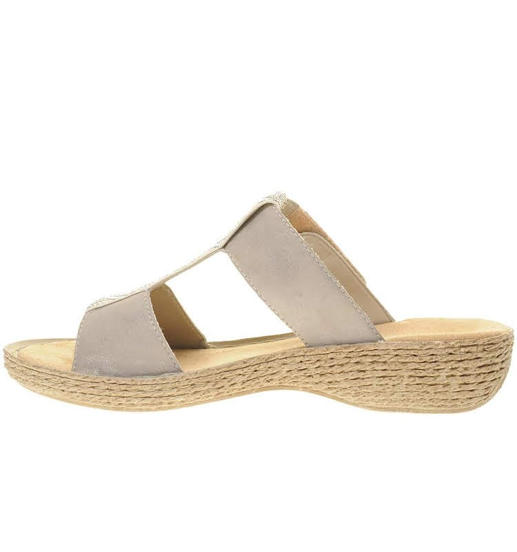 284ccbda7e0 Womens Slide flip flops/slippers Rieker 65882-91 | The Tall Collective