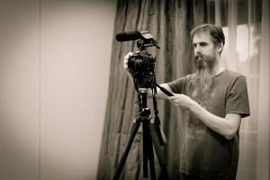 Videographer film maker and photographer Charlie Budd at thetallphotographer.co.uk monochrome