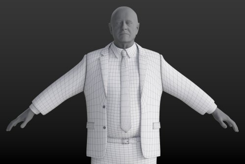 3D Clothing Model: Smart Suit - Heavy Male