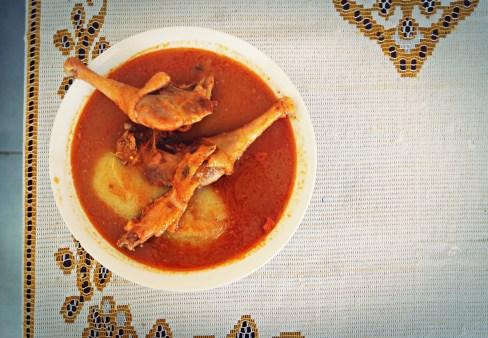 Ghanaian fufu in a bowl