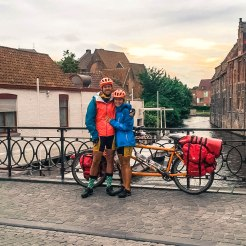Tandem bicycle couple in Germany