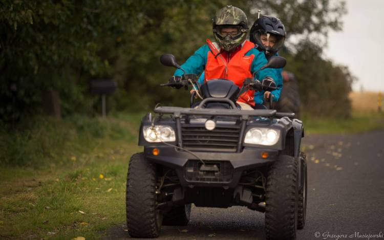 A couple on a quad in Iceland