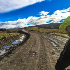 bicycle rider in Iceland