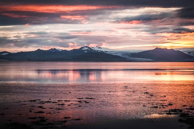 Beautiful sunset in Iceland / Travel Gallery