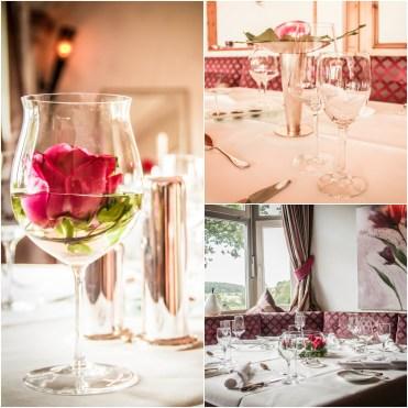 collage of fine dinning at Landhaus Feckl