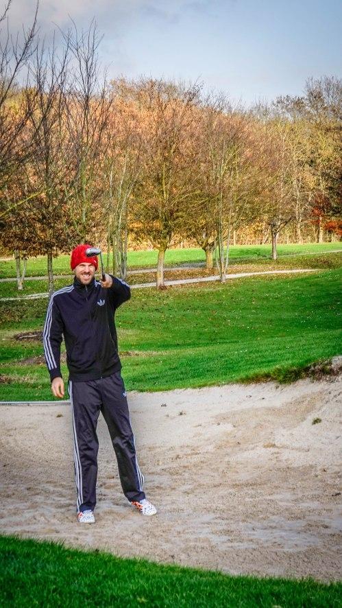 Man with a golf club