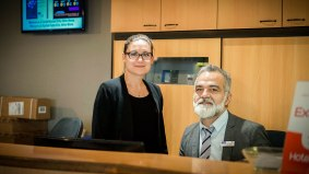 two receptionists of the Hotel Kyriad Orly Aéroport